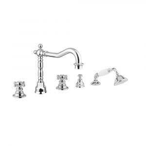 Bathtube set with pull-out handshower