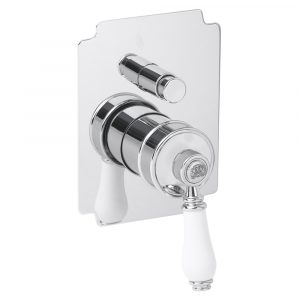 Built-in 2 way shower mixer with diverter