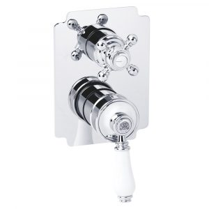 Built-in 3 way shower mixer with diverter