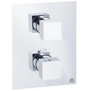Miscelatore doccia da incasso 3 vie con deviatore, termostato