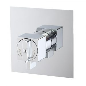 Built-in thermostatic shower mixer