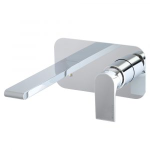 Concealed basin mixer