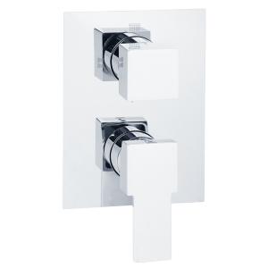 Built-in 4-way shower mixer with diverter
