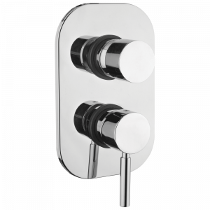 Built-in 3-way shower mixer with diverter