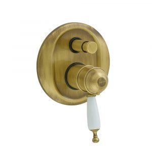 Miscelatore da incasso 2 vie con deviatore, termostato