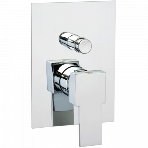Built-in shower mixer with diverter