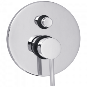 Built-in 2-way shower mixer with diverter