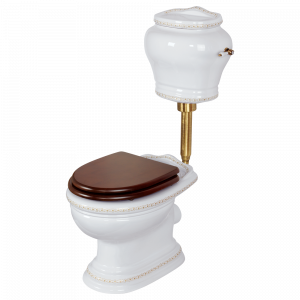 WC low level cistern with lever, Milady