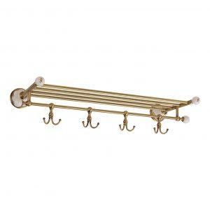 Mensola alla griglia con ganci, L60 cm, Provance