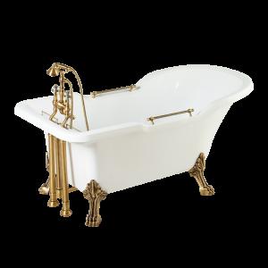 Vasca da bagno Impero bianco, zampe Migliore