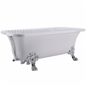 Bathtub Olivia white, paws Migliore