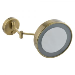 Wall make up mirror with halogen backlight