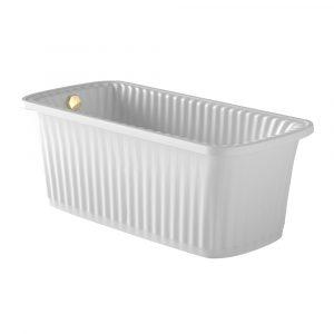 Olivia Panello. Vasca da bagno bianco
