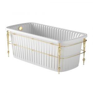 Olivia Console. Vasca da bagno bianco