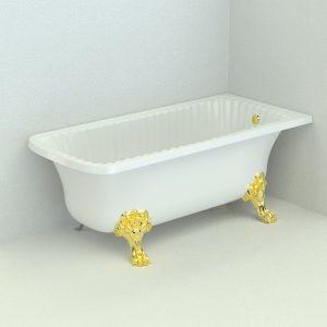 Olivia Angolare. Vasca da bagno, zampe «Migliore»