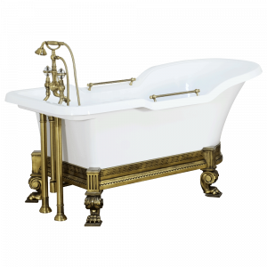 Bathtub Impero Affusto white on carriage