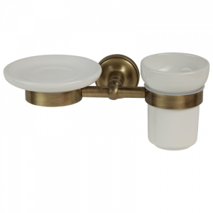 Soap dish and tumbler holder, Mirella