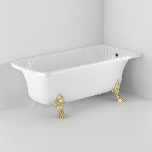Vasca da bagno Olivia Angolare, 2 zampe Leone, angolare