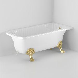 Vasca da bagno Olivia Angolare, 2 zampe Migliore, angolare