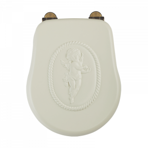 Toilet seat Avorio with Angel decoration