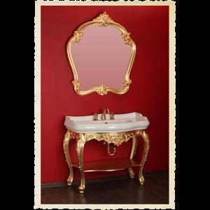 Wasbasin stand, mirror, washbasin, Bella