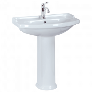 Washbasin 74 on pedestal