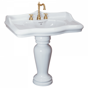 Washbasin 90 on pedestal