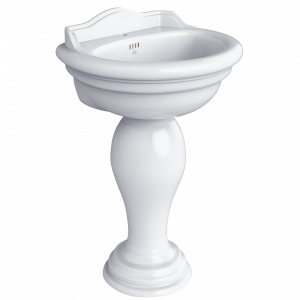 Washbasin 62 on pedestal, Milady