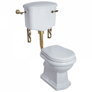 WC low level cistern with lever