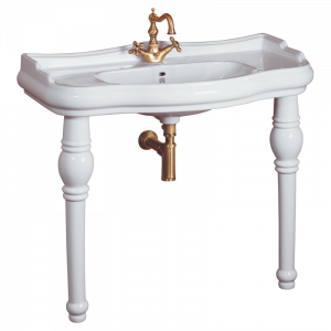 Washbasin on ceramic legs