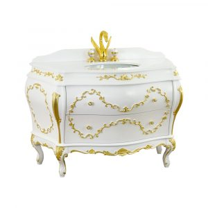 Marble top, washbasin furniture, Valensa