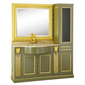 Marble top, washbasin furniture, sink, mirror, cabinet, Ravenna