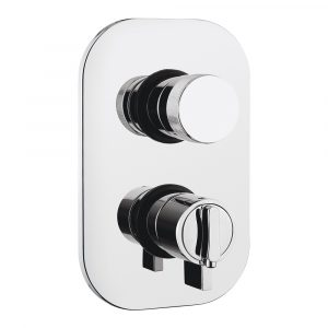 Miscelatore doccia da incasso 4 vie con deviatore, termostato