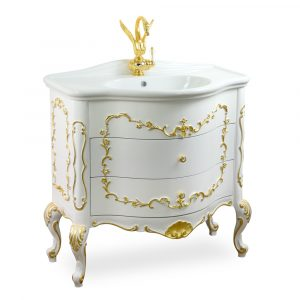 Top marmo, base per lavabo, L90 cm, Milady