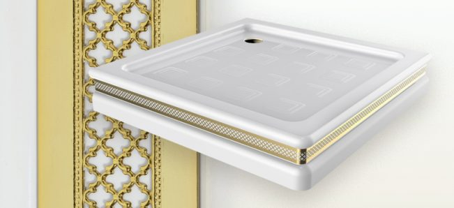 New: square shower tray