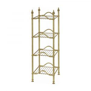 Rack with four shelves, L38 cm, Mirella