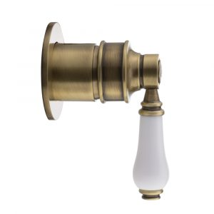Concealed mixer, Hermitage Mini, handle: white ceramic