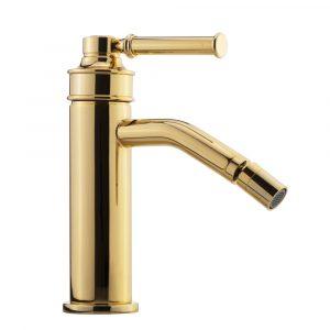 Bidet faucet, Hermitage Mini, handle: white ceramic