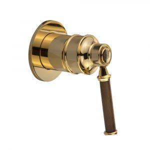 Concealed mixer, Hermitage Mini, handle: walnut