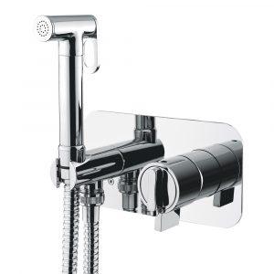 Mixer da incasso con doccia igienica, termostato