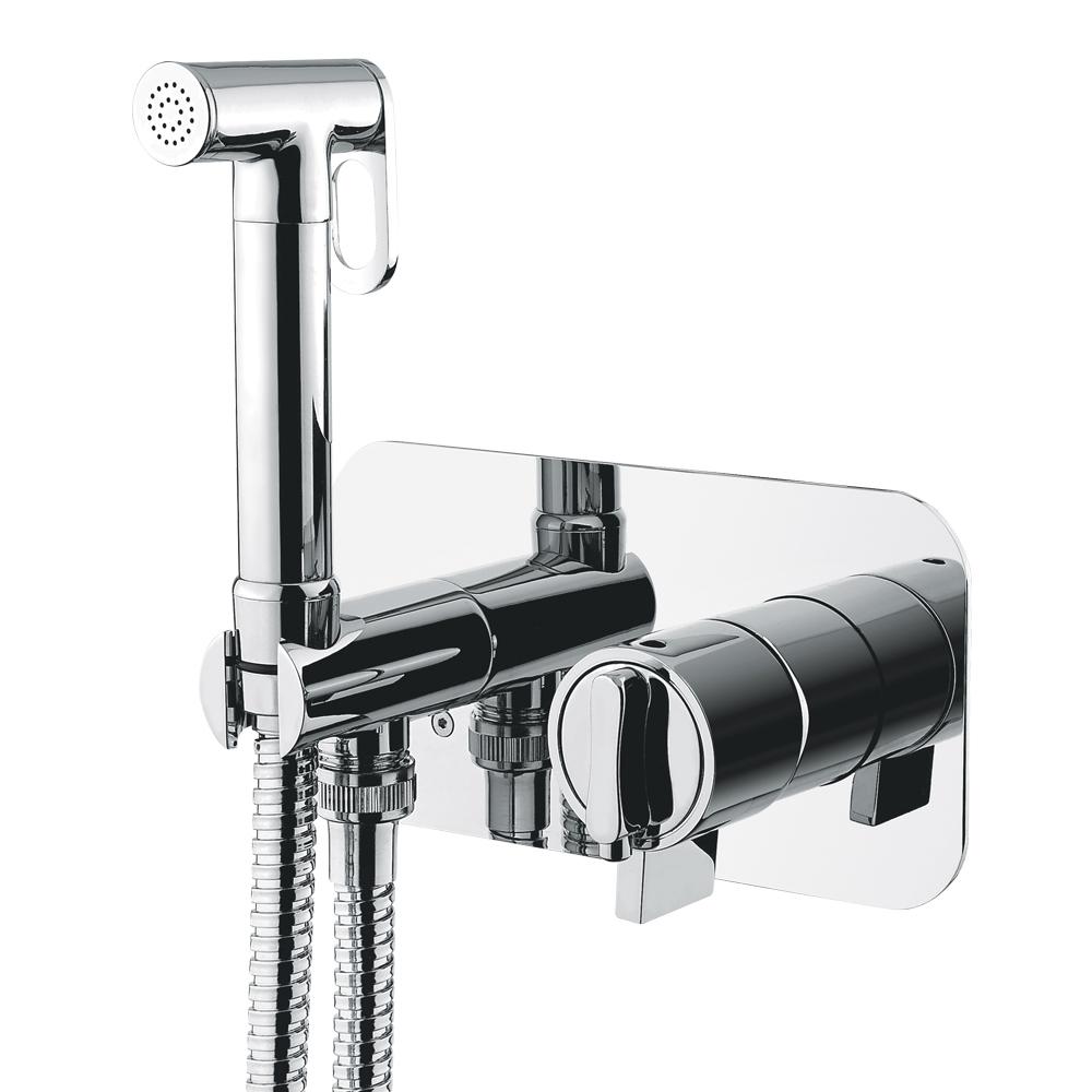 Mixer da incasso con doccia igienica, termostatica