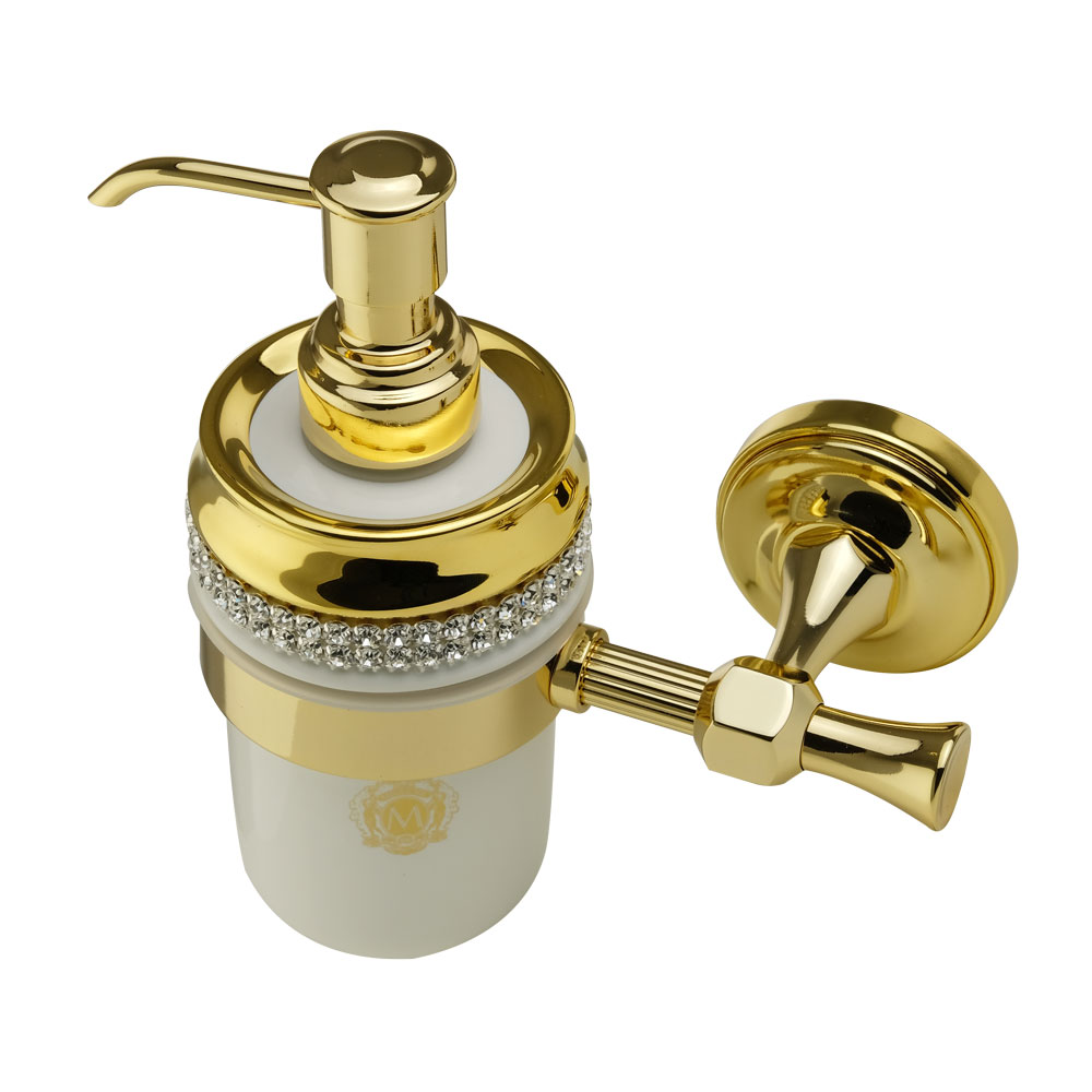 Dispenser, ceramica, Colore Bianco, arredamento Oro, swarovski, titolare oro