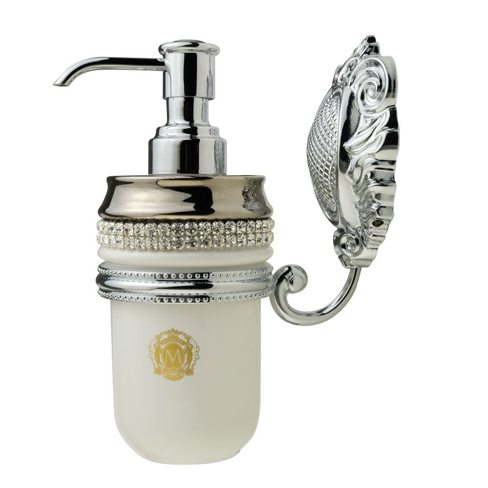 Dispenser, ceramica, Colore Bianco, platino, swarovski, cromo, Cleopatra