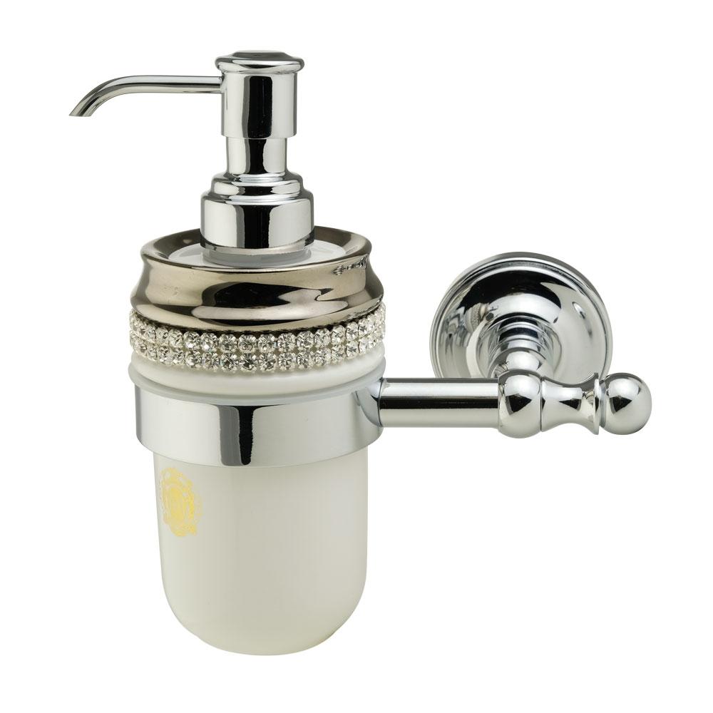Dispenser, ceramica, Colore Bianco, platino, swarovski, cromo