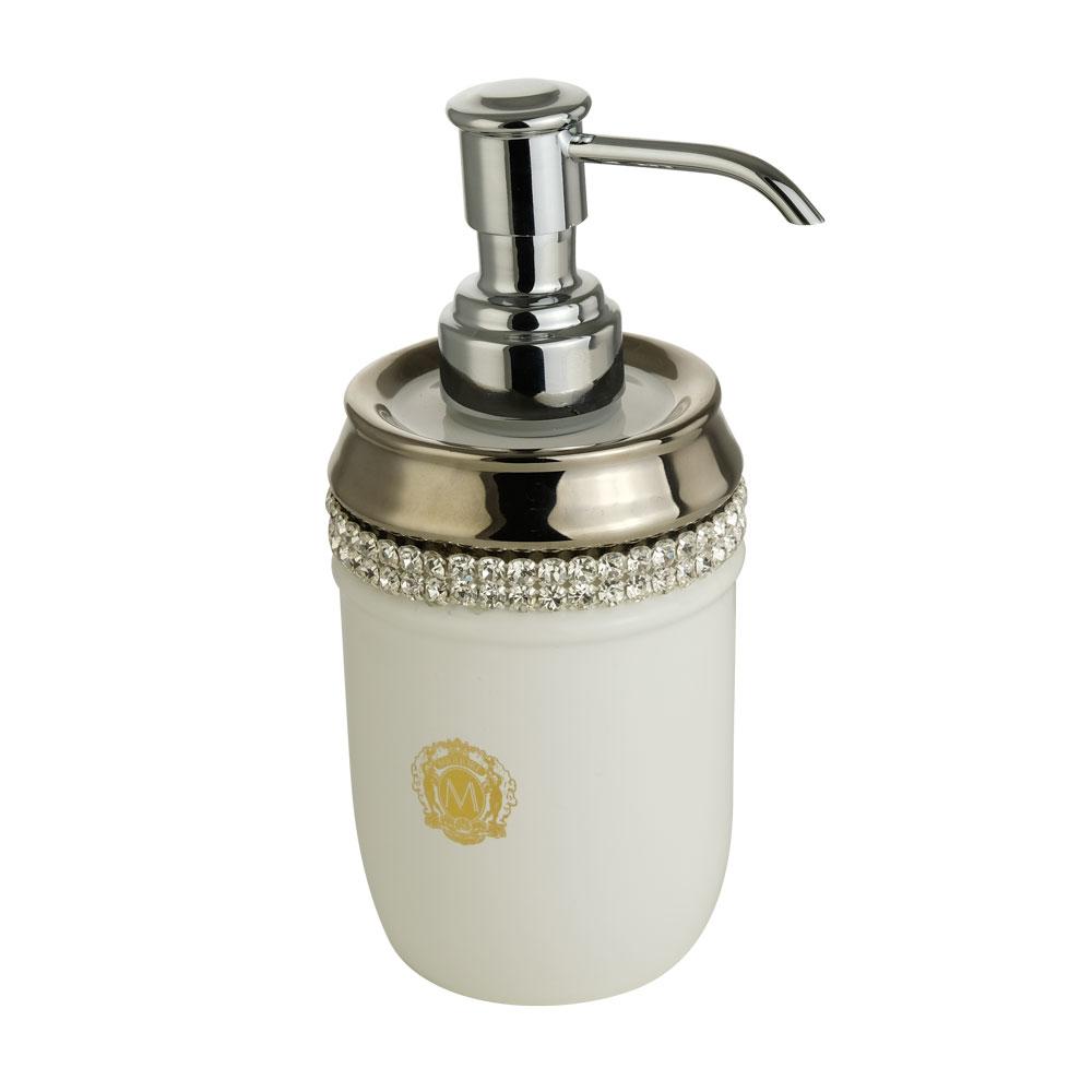 Dispenser, ceramica, Colore Bianco, platino, swarovski