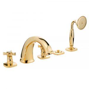 Bathtub set with pull-out hand shower, Korona