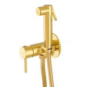 Hygienic shower with mixer tap
