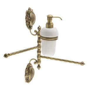 Portasalviette doppio girevole con il dispenser, Ceramica