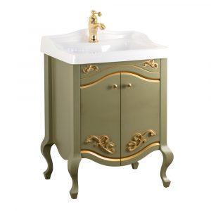 Base per lavabo, lavabo consolle per mobile, L60 cm, Impero