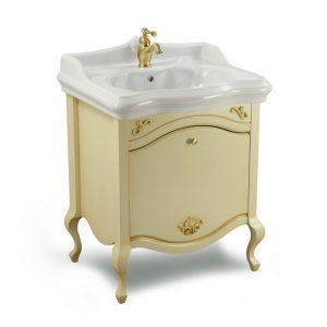 Base per lavabo, lavabo consolle per mobile, L70 cm, Decape Sabbia, Impero